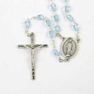 Blue Glass Miraculous Medal