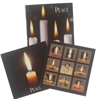 Candles Christmas Card Collection with Scripture Verses