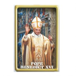 Pope Benedict 3D wood picture (10cm x 15cm)