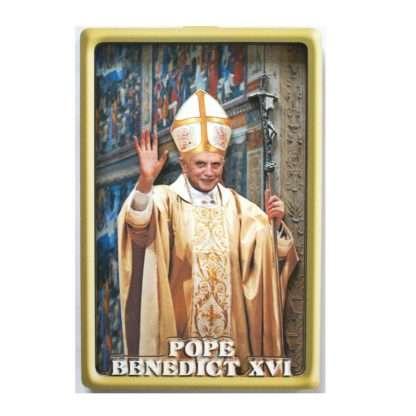 Pope Benedict 3D wood picture (10cm x 15cm)