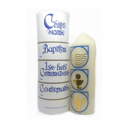 Three in One Baptisimal Candle for Baptism, First Holy Communion and Confirmation