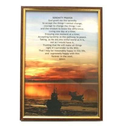 Framed Serenity Prayer picture.
