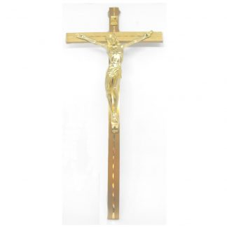 "Hanging Metal Crucifix approximately 8"" high"