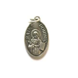 St Dominic Oxidised Medal