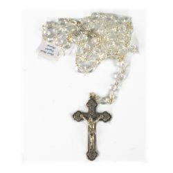 6MM REAL ROCK CRYSTAL ROSARY(CLEAR) RS348