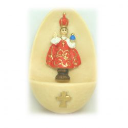 Small Infant of Prague Holy Water Font
