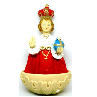 Child of Prague Resin Holy Water Statue