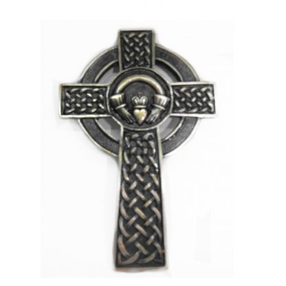 Metal Claddagh Celtic Cross