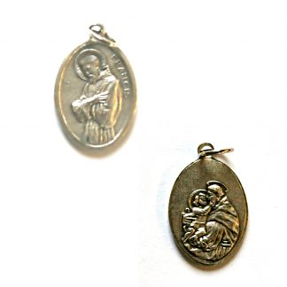 Saint Anthony and St Francis Double Sided Medal