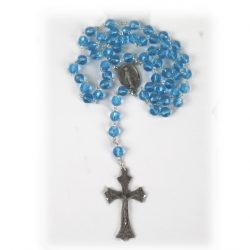 AQUA BLUE ROSARY RS319