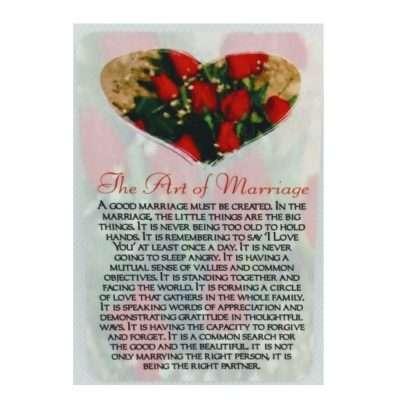 Art of Marriage Prayer Card