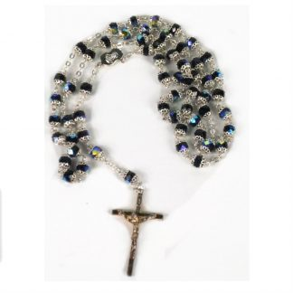 Black Diamond Capped Rosary