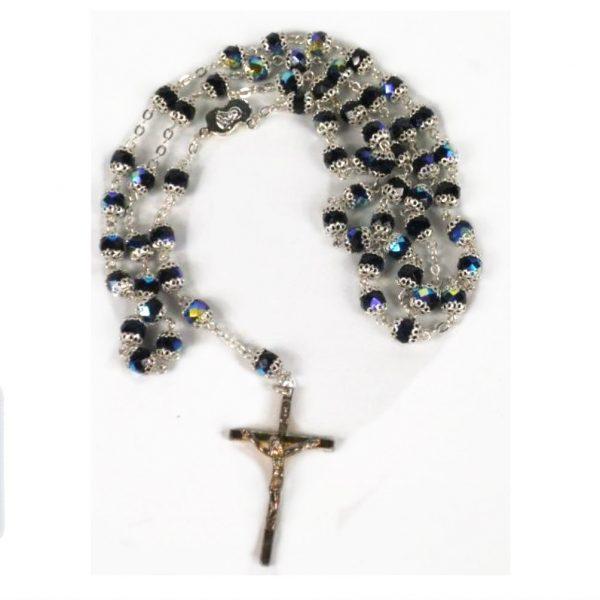 Black Diamond Capped Rosary