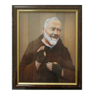 Padre Pio Picture Framed. 24.5cm x 29.5cm