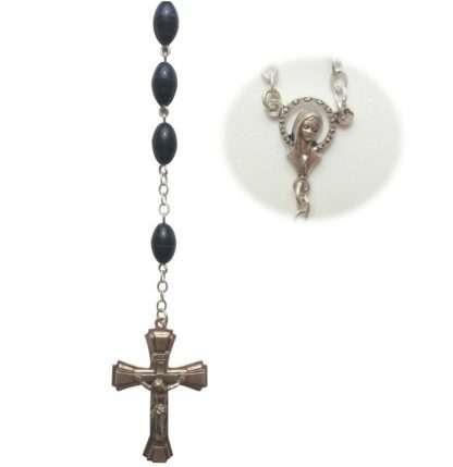 Blue Rosary Beads, Oval Rosary, Blue Oval Rosary