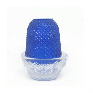 Blue Pyramid Glass Holder