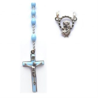 Blue Plastic Rosary RS109