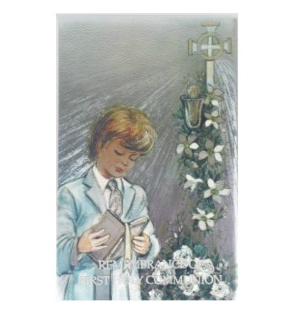 Boys First Holy Communion Book with Shimmering Cover