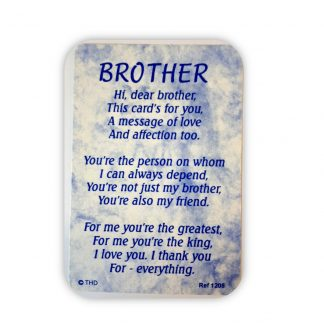 Brother Poem Card