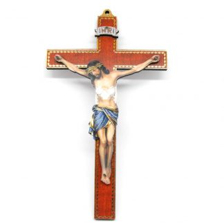 Small Wooden Crucifix with God Design