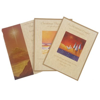 Christmas Thoughts Card Collection - 18 Cards (6 of each of 3 designs) With Envelopes, All conatinging Scripture Versus
