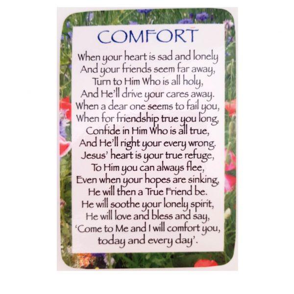 Comfort Prayer Card