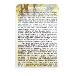 Desiderata Prayer Card