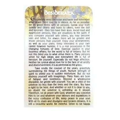 Desiderata Prayer Card