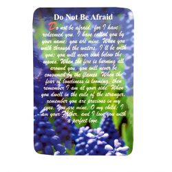 Do not be afraid prayer card