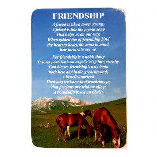 Friendship Prayer Card