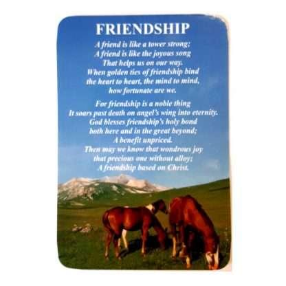 Friendship Prayer Card