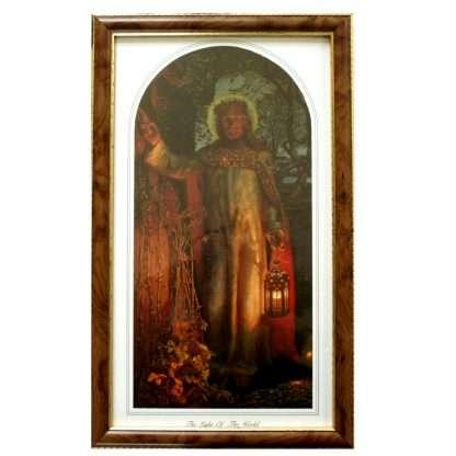 Light of the World Image - Framed. 23.5cm x 38.5cm