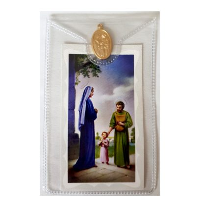 Holy Family Prayer Card with Medal