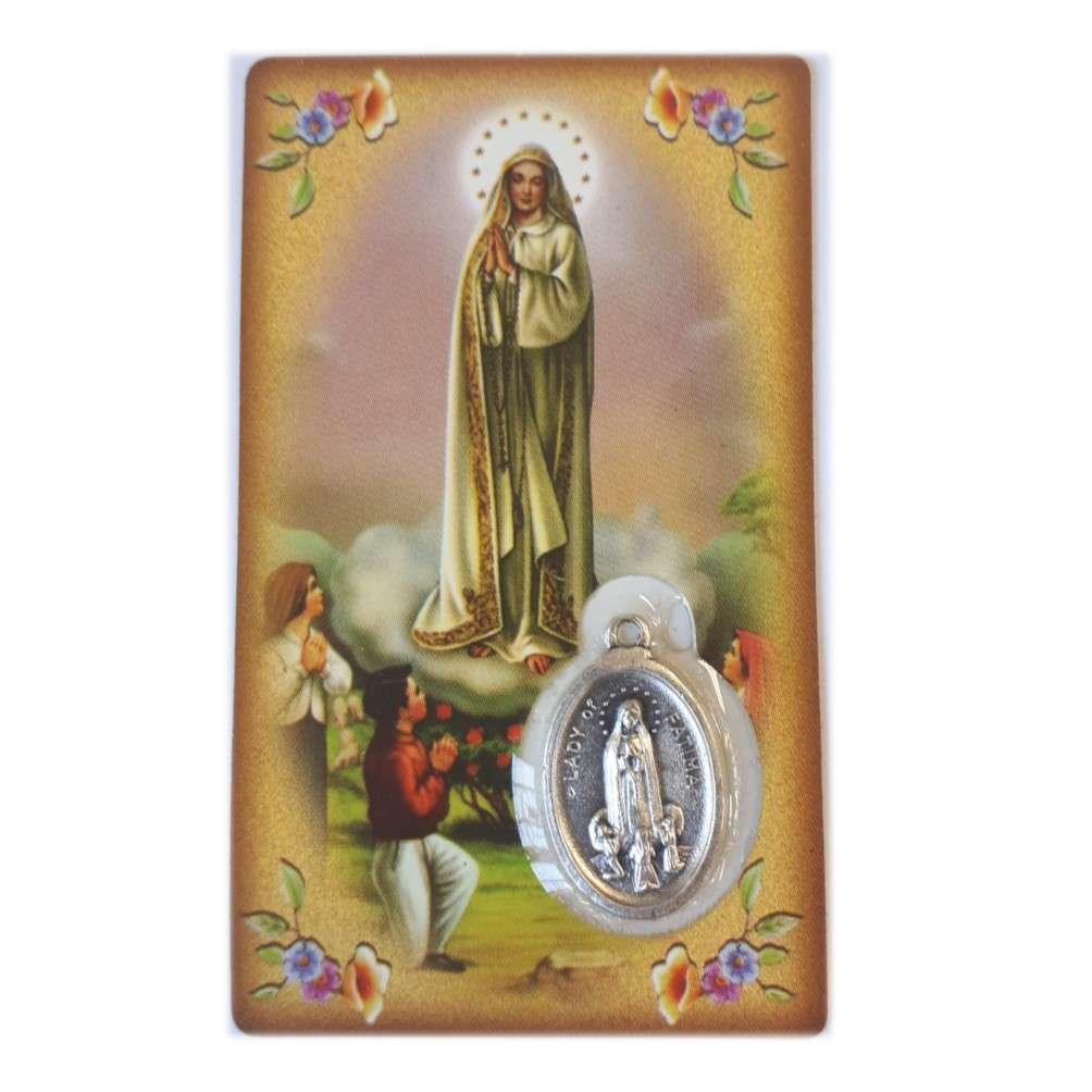 Fatima Medal Prayer Card