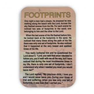 Footprints Prayer Card