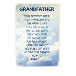 Grandfather Prayer Card BVC_GF_1205
