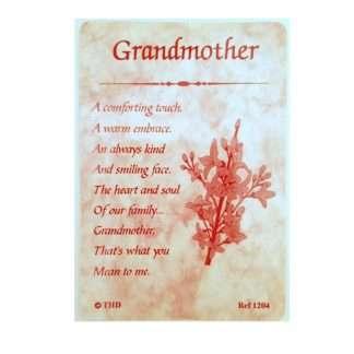 Grandmother Prayer Card BVC-GM-1204