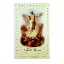 He is Risen lace Prayer Card