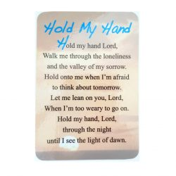 'Hold my Hand' Prayer Card
