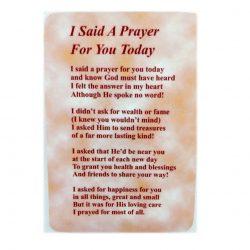 I said a prayer prayer card
