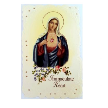 Immaculate Heart Lace Prayer Card