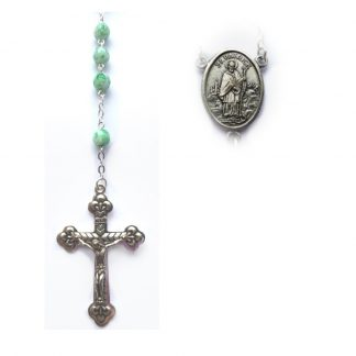 Light green rosary st. patrick 242.2 (2)