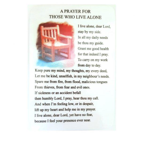 Living Alone Prayer Card