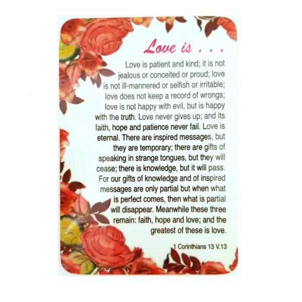 Love is Prayer Card