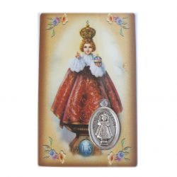 Infant of Prague medal card