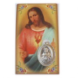 Sacred Heart medal card