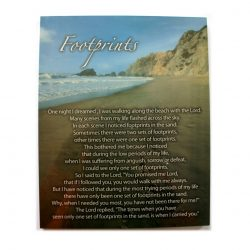 Footprints in the Sand Poem on Canvas - 30cm x 24cm