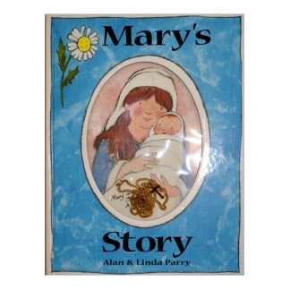Mary's Story Children's Book with Gold Coloured Chain