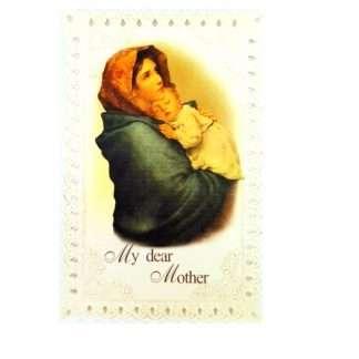 Madonna and Child Prayer Card