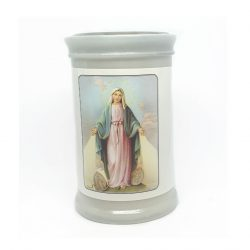Miraculous Candle with Act of Consecration to Our Lady of the Miraculous Medal on the reverse